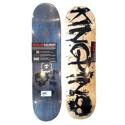 """ZERO Skateboards x Kingpin Skate Supply Deck 8.25"""" Blood Collab Only 25 Made"""