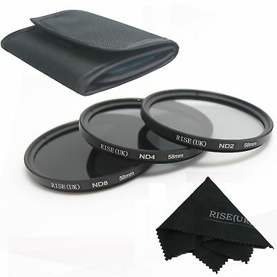 ND2 ND4 ND8 Filter kit  58mm for Canon 60D 600D 650D 700D For Nikon Canon Pentax