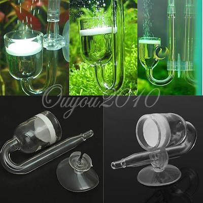 Co2 Poisson Aquarium Diffuseur U Arrêter Valve Verre Ventouse Tube Submersible