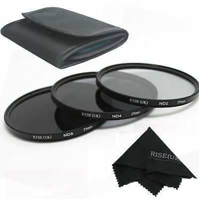3pcs 77mm ND2 ND4 ND8 Neutral Density Filter for Canon 5D 6D 7D 60D 70D
