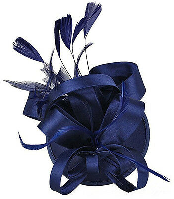 New Fashion Feather Fascinator Hat Hairpin Wedding Races Prom Ladies Royal Ascot