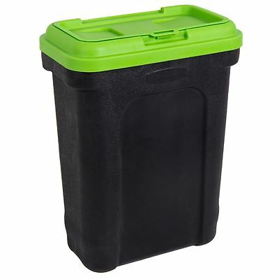 Pet Food Black & Green Large Container With Scoop Dog Cat Dry Food Storage Bin