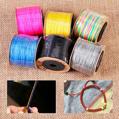 100m 0.8 mm Nylon Schnur Makramee Nylonfaden Schmuck Cord thread DIY String
