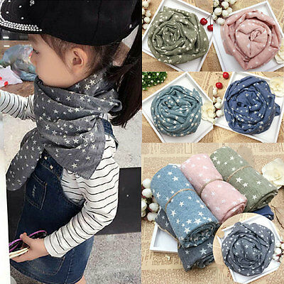 Fashion Children Fall Winter Comfortable Soft Scarf Star Baby Cute Girl Scarves