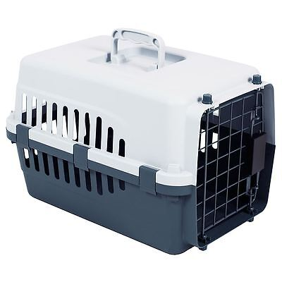 Pet Carrier White & Grey Dog Cat Puppy Portable Travel Cage Crate