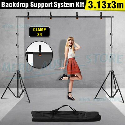 3x3.6m Photography Studio Muslin Backdrop Chroma Key Green Screen Background AU