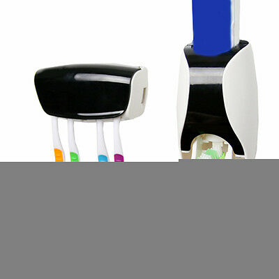 Automatic Lazy Toothpaste Dispenser 5 Set Toothbrush Holder Wall Mount Stand 1pc