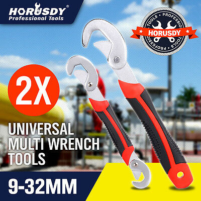 Multifunctional Universal Quick Snap'N Grip Adjustable Wrench Spanner Tool 2Pcs