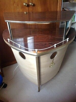 Vintage Retro Cocktail Boat Bar Barget Cruiser 1950s 1960s Mid Century Man cave