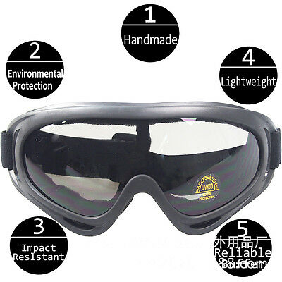 Black CS Lens Tactical Goggles Airsoft Paintball Full Eye Protective