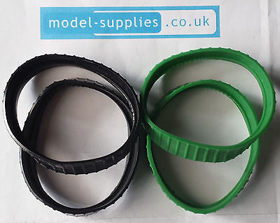 Dinky 563/963 Blaw Knox Tractor Pair Reproduction Rubber Tracks Black or Green