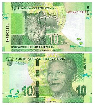 South Africa 10 Rand ND (2012) P-133 Banknotes UNC