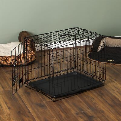 Pet Cage 30 Inch Dog Animal Crate Home Folding Metal 2 Door Training Kennel