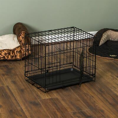 Pet Cage 18 Inch Dog Animal Crate Home Folding Metal 2 Door Training Kennel
