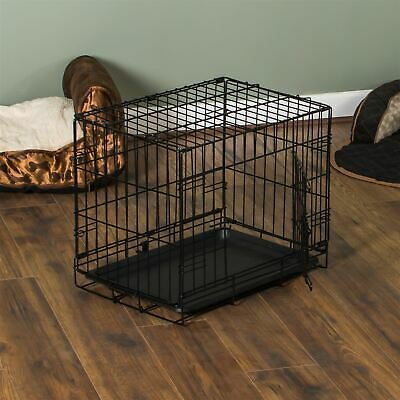 Pet Cage 24 Inch Dog Animal Crate Home Folding Metal 1 Door Training Kennel