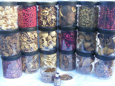Pot Pourri Complete Home Floristry Gift Set Kit 18x 400ml 4.5x3.5 in Jars & Lids