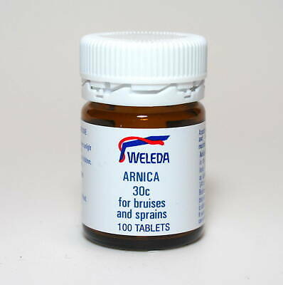 Weleda Arnica 30c 100 Tablets For Bruises & Sprains Small Tablet Easy to Swallow