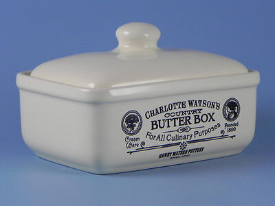 Charlotte Watson Cream Butter Dish Box With Lid - 646