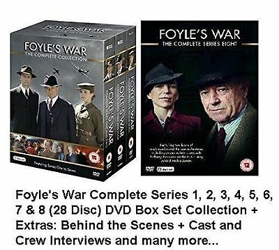 FOYLE'S WAR COMPLETE SERIES 1 - 8 DVD Collection Box Set Season + EXTRAS New