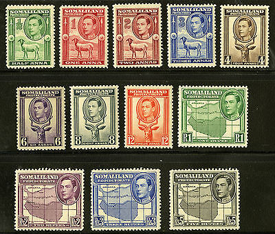Somaliland Protectorate   1938   Scott # 84-95   Mint Never Hinged Set