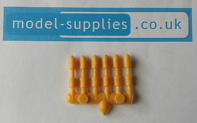 Dinky 691 Alvis Striker Set of 6 Reproduction Plastic Shells / Missiles