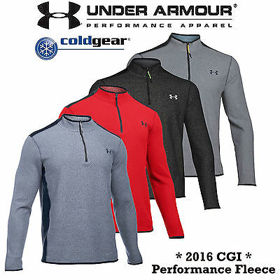 Under Armour Mens Golf Fleece Coldgear® Infared Cgi 1/4 Zip Jumper New 2016