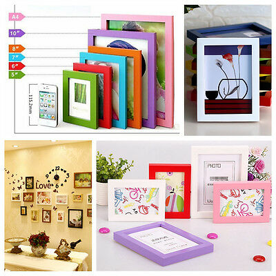 """Hot Wall Frame A4/5""""/6""""/7""""/8"""" Multi-size Room Decor Wooden Picture Photo Box"""