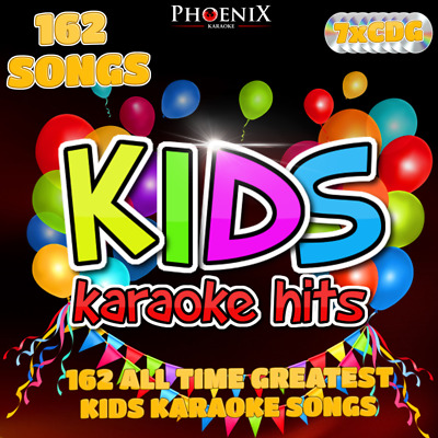 Phoenix Karaoke KIDS KARAOKE HITS. 162 Childrens Songs. CD+G CDG Disc Set.