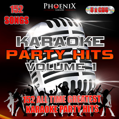 Phoenix KARAOKE PARTY HITS. 152 Songs. CD+G CDG Disc Set For Karaoke Machine