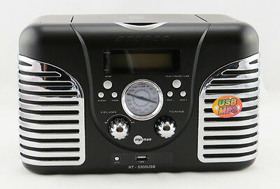 RADIO AM/FM con CD/MP3/USB - VINTAGE - RT5300USB MP-MAN