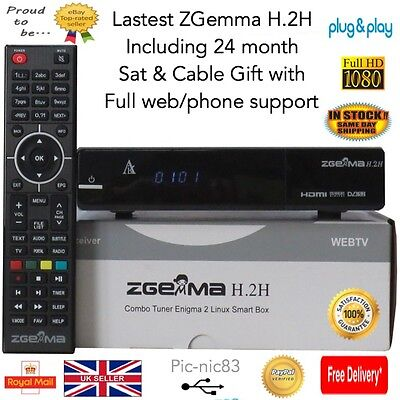 ZGemma H.2H Combo Receiver**24 Month Sat & Cable Gift**Free Post**latest Model
