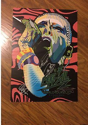 Tokio Hotel  Feel It All World Tour 2015 Poster Signed Rare Billy Kaulitz