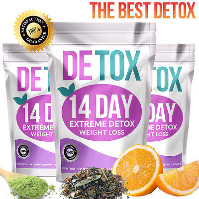 Extreme Weight Loss Detox, 14 Day Teatox Fat Burning Slimming Diet Tea