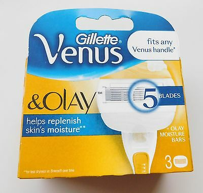 Gillette Venus and Olay Razor Blades - Pack of 3