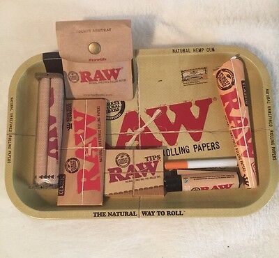 NEW RAW BUNDLE 7x11 TRAY -KING CONE-KING PAPERS-ROLLING MACHINE-LIGHTER-ETC...
