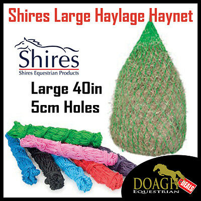 Shires Large Haylage Haynet With Small 5Cm Holes Slow Feeder All Colours