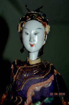 Antique Chinese Opera Doll 10 1/2in