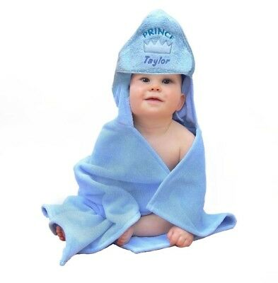 Personalised Embroidered Baby Hooded Towel Bath Time Boy Girl Lovely Gift Towel