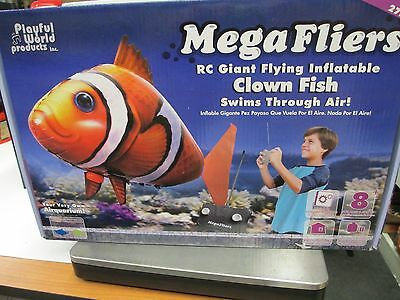 NEW Mega Fliers 5' long' Inflatable Mylar Clown Fish Radio Controlled