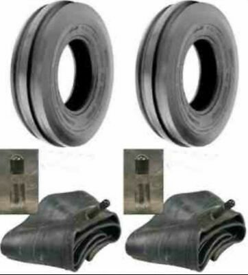 TWO 400X19, 4.00-19, 400-19 F2 Triple Rib FORD 2N 9N Front Tractor Tires w/Tubes