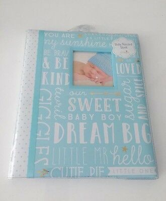 *NEW* Lil Peach Baby Boy Blue Record Memory Keepsake Book 1st 5 Years