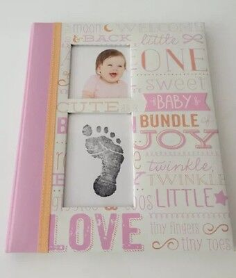 Pearhead Little Blossoms Pink White Baby Girl Memory Keepsake Book + Ink Pad