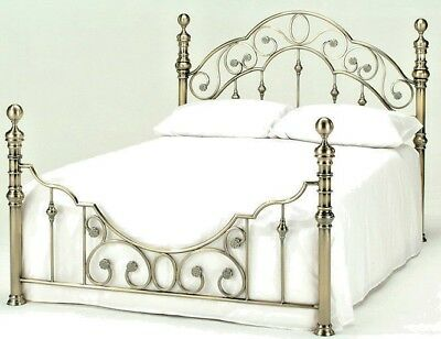 Lavish New Florence Brass Finish Bed Frame Bedstead In Double & King**Free P&P**