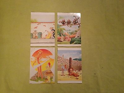 Cartes Postales P.milon Lot De 4