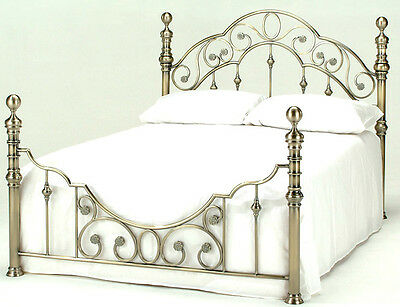 Lavish Florence Brass Finish Bed Frame Bedstead In Double & King**Free Delivery*