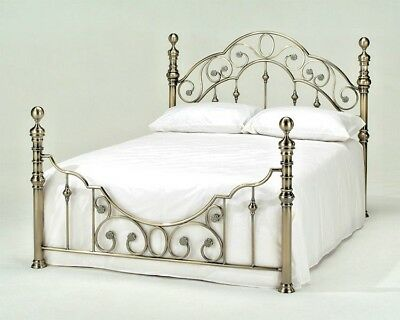 Lavish Florence Antique Brass Effect Bed Frame Bedstead King Or Double*Free P&P*
