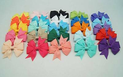 """Girl's 2 PC Hand Made 3"""" Pin Wheel Hair Bow Set ~ Fast FREE Shipping #H11"""