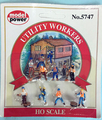 Model Power 'ho/oo' Gauge 5747 'utility Workers' Model Figures New & Sealed #133