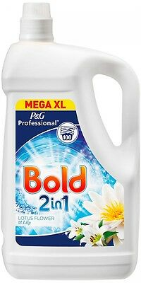 Bold Laundry Liquid 100 Wash Lotus Flower and Lily 5 L BUlk Professional NEW