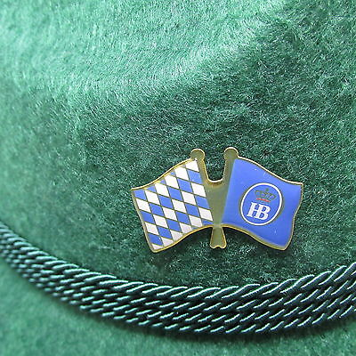 Bavarian HB Flag Oktoberfest Hat Pin Large